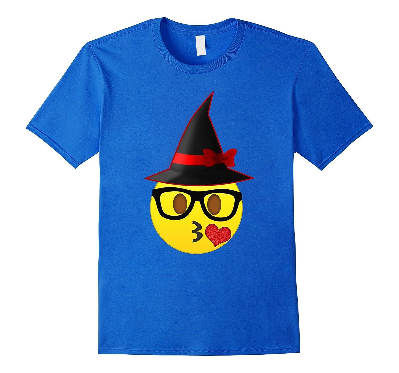 Nerd Emoji Witch Hat Halloween T-Shirt for Girls and Women-T-Shirt