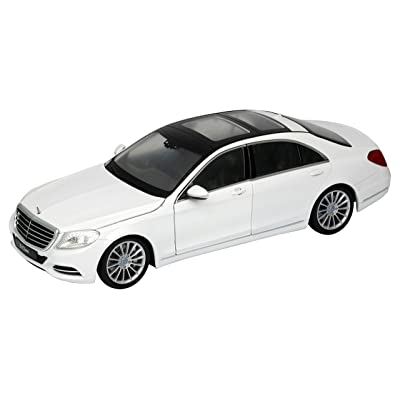 Welly Mercedes Benz S Class 1/24 Scale Diecast Model Car White: Toys & Games [5Bkhe0206935]