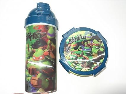 Tortugas Ninja - a la escuela - - 2 unidades botella ...