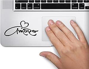 Amore Heart Symbol Decal Funny Laptop Skin Macbook Trackpad Keypad Sticker Window