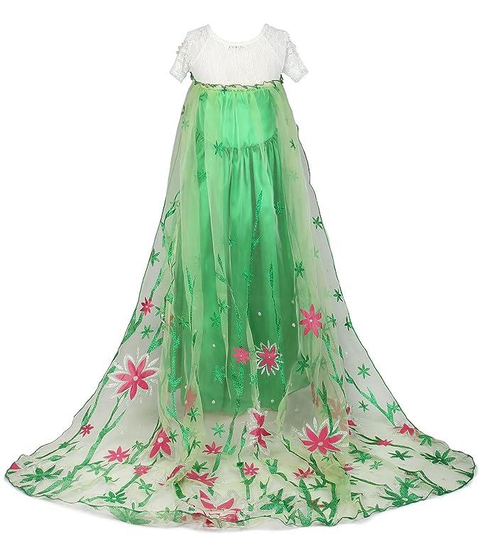 JerrisApparel Nuevo niña Disfraz Vestido de fiesta Princesa con flor del Cabo: Amazon.es: Ropa y accesorios