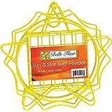 Belle Fleur Sun & Star Suet Bird Feeder, Yellow, One Suet Cake Capacity