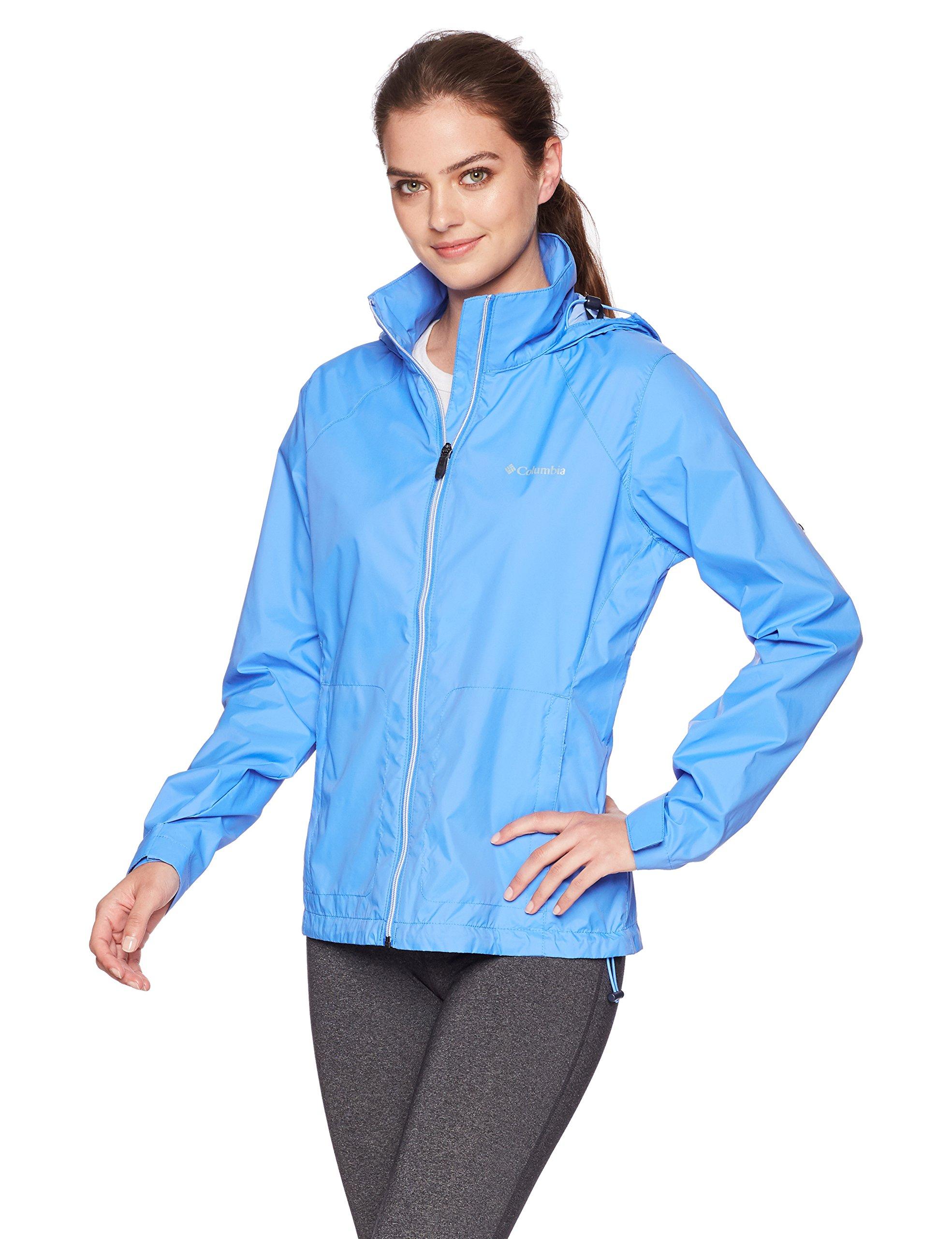 Columbia Women's Switchback III Adjustable Waterproof Rain Jacket, Harbor Blue, X-Small