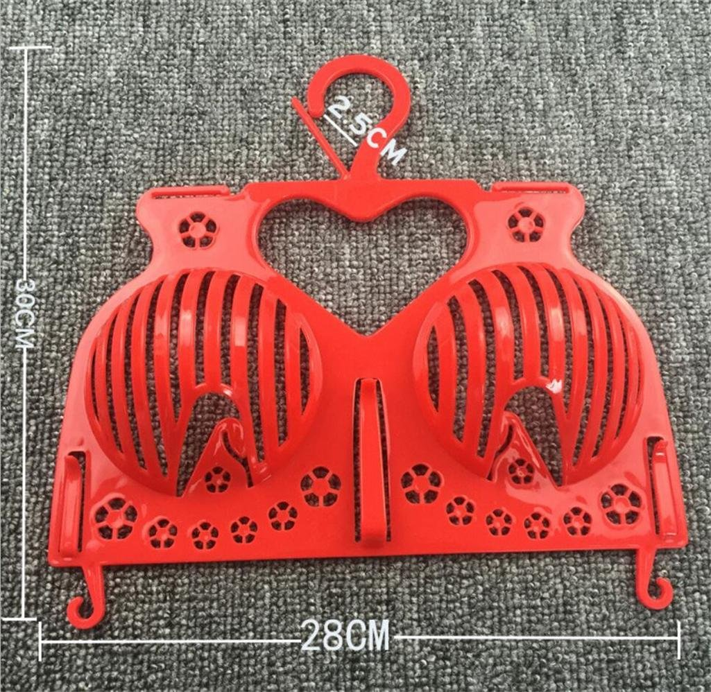 Packung mit 10 St/ück pink Plastik BH Aufh/änger Winddicht Nicht deformiert Gitter Unterw/äsche Shop Display Stand