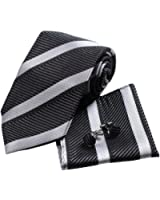 YAC1A03 Fashion Gift Multi-colors Striped Silk Necktie for Mens 3PT By Y&G