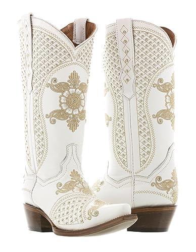 Amazon.com | Cowboy Professional Women\'s White Marfil Wedding ...