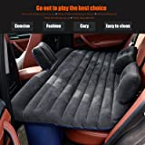 Ablevel Car Travel Inflatable Mattress Flocking Air Bed Camping Universal SUV Back Seat Couch (Black 2)
