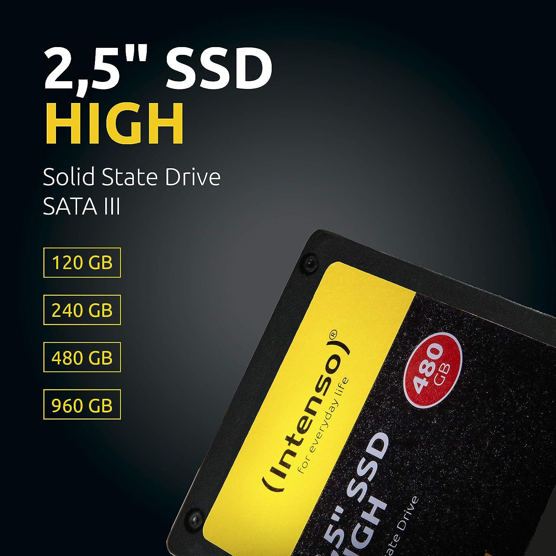 Intenso 3813430 Disco Duro sólido de 120 GB SATA III, Negro ...