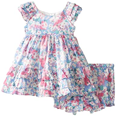 Amazon Com Laura Ashley London Baby Girls Newborn Floral Ruffle