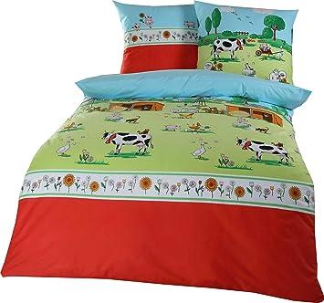 Kaeppel Biber Bettwasche 100 Baumwolle Bauernhof