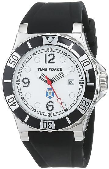 Time Force Reloj Análogo clásico para Hombre de Cuarzo con Correa en Caucho TF3236M: Amazon.es: Relojes