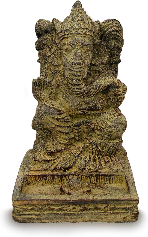 FaHome Ganesha Stein Figur R/äucherst/äbchenhalter ca 25cm Skulptur Deko Statue R/äucherst/äbchen Halter Meditation
