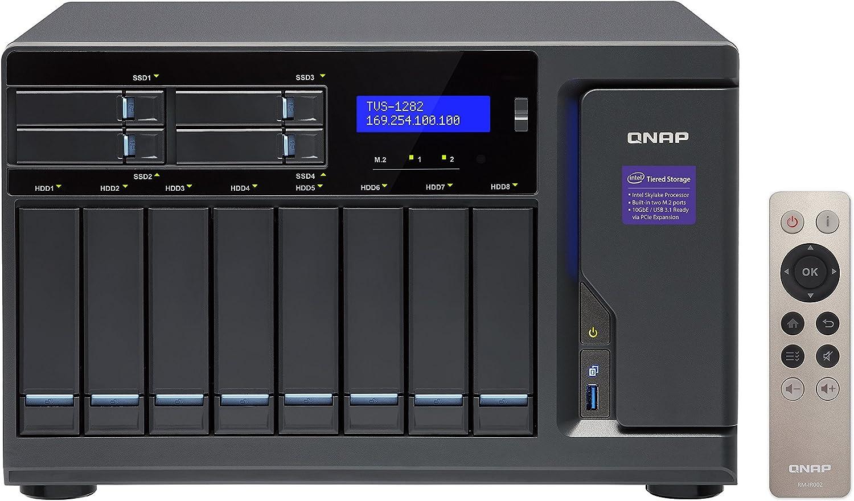 Intel-Prozessoren der 7 Hochleistungsf/ähiges NAS-System Generation QNAP TVS-1282-i5-16G Tiered Storage schwarz