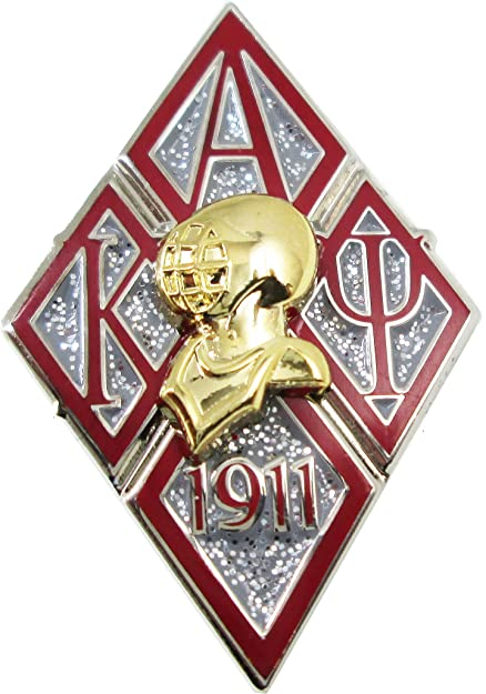 Cultural Exchange Kappa Alpha Psi Diamond 3D Helmet Armor Lapel Pin [Silver 1.25
