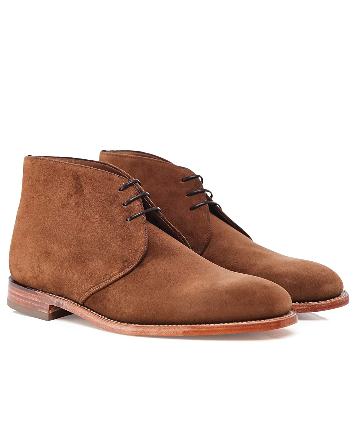Loake Mens Suede Boughton Chukka Boots Brown