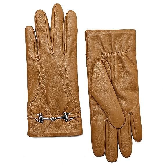 925803f20949f5 YISEVEN Frauen Winter Leder Lammfell Weiche Handschuhe 100% Pure Thermal  Lining halten Warm Für Motorrad