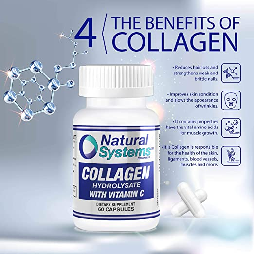 Amazon.com: Natural Systems. Collagen With Vitamin C 60 capsules | Anti-Aging Nutritional Supplement Rich In Vitamin C - Skin, Nails & Hair Rejuvenation: ...