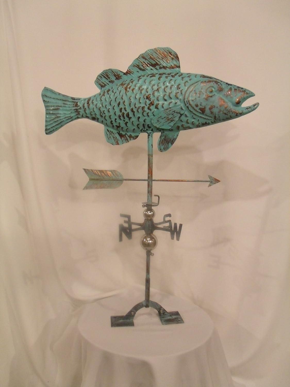Hand Made Bass Fish Weathervane *NEW*