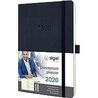 SIGEL C2022 Wochenkalender 2020, ca. A5, schwarz, Softcover Conceptum - weitere Modelle