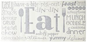 """Eat Phrases Vinyl Lettering Wall Decal Sticker (21""""H x 46""""L, Black)"""