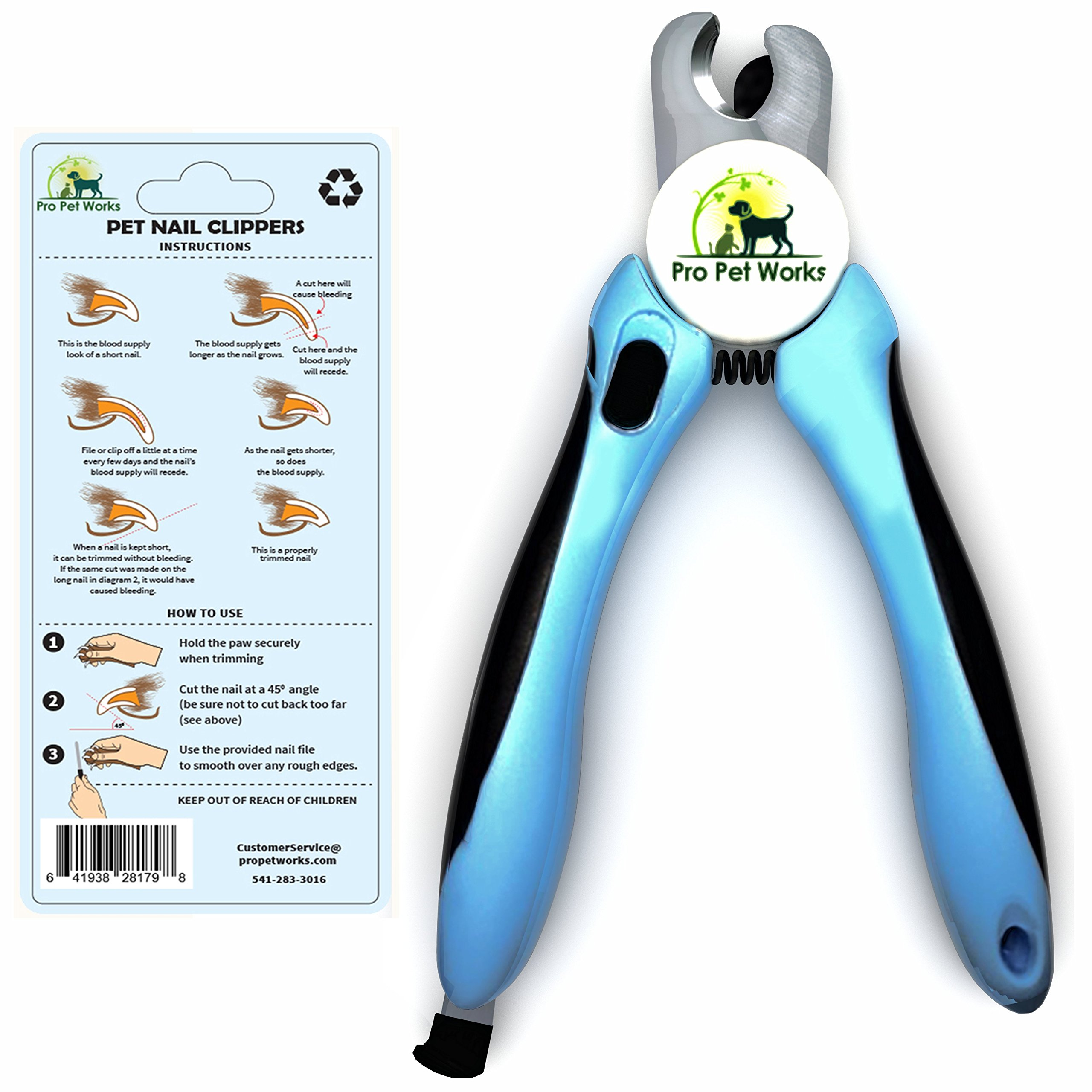 Pro Pet Works Dog Nail Clippers Trimmers With Nail File For Gro