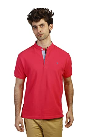 THE TIME OF BOCHA Polo de Hombre Manga Corta Mao JV1PMAO-27-Fucsia ...