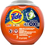 Tide PODS 4 in 1, Ultra Oxi, Laundry Detergent Liquid Pacs, 32 Count - Packaging May Vary