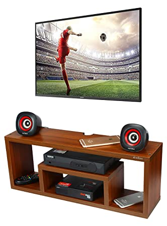 62806d20830 Anikaa Aster Wall Mounted Media Console Shelf TV Stand TV Entertainment Unit  (Walnut)