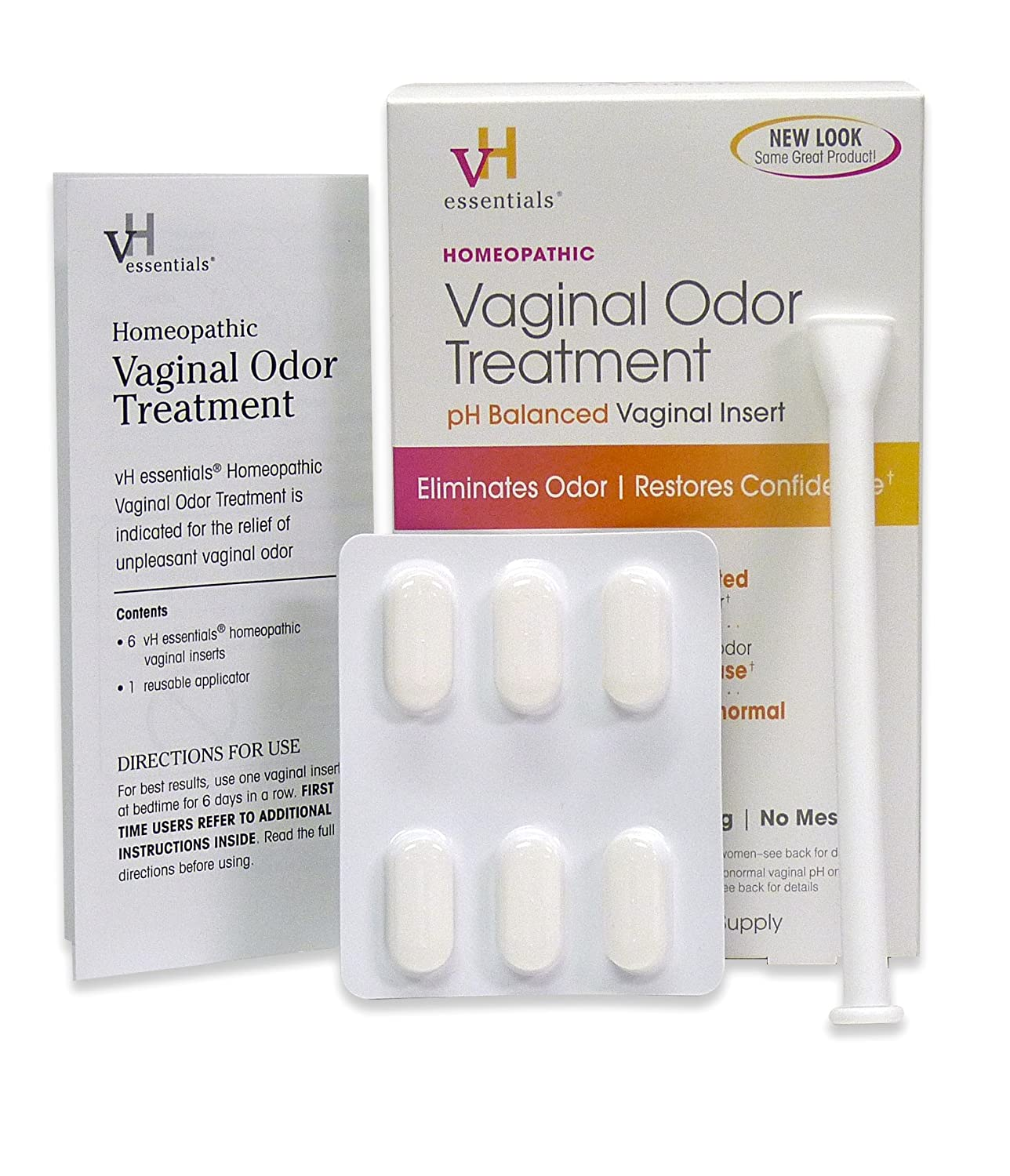 Amazon.com: vH Essentials Feminine Odor Treatment, pH Balanced Vaginal  Tablets (6 Inserts, 6 Day supply): Beauty