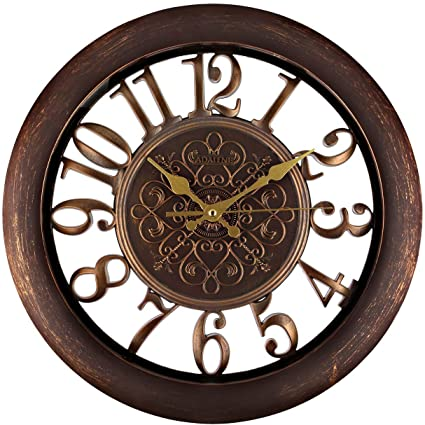 nice looking modern wall clocks amazon. Adalene Wall Clocks Large Modern  Battery Operated Non Ticking 13 Inch Elegant Clock Silent Amazon com