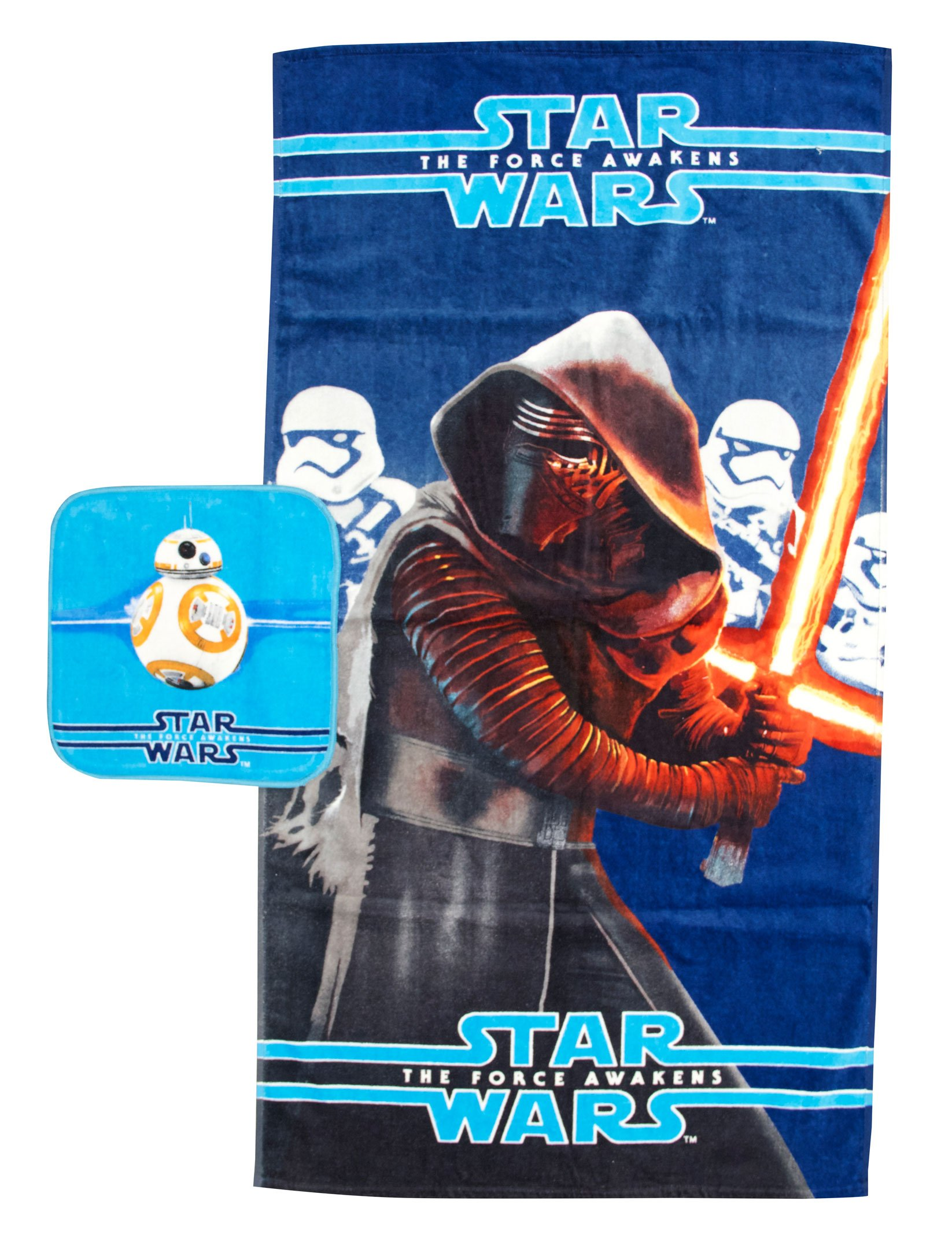 Star Wars Ep7 Classic 2 Piece Cotton Bath/Wash Towel Set