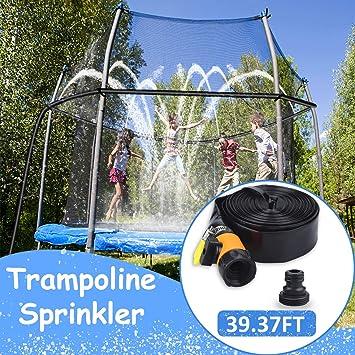 aovowog Aspersor de Trampolín, Spray de Parque Acuático de Trampolín al Aire Libre para Niños, Juego de Agua de Verano de Juguete de Jardín para Niños Niñas (12M/39.37FT): Amazon.es: Juguetes y juegos