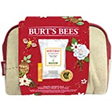 Burts Bees Travel Essentials Holiday Gift Set, 3 products in a Gift Bag, Lip Balm, Cuticle Cream and Cleansing Towelette
