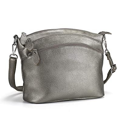Amazon.com  Lecxci Luxury Genuine Leather Cross Body Purses b258e91c2a536