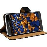 mumbi Etui Cuir Samsung Galaxy A5 (2016) (ne pas pour Galaxy A5 - A500F 2015) en Book Style - Etui à Clapet Portefeuille Étui Housse Protecteur Pochette Bookstyle noir / Pied Pivotant