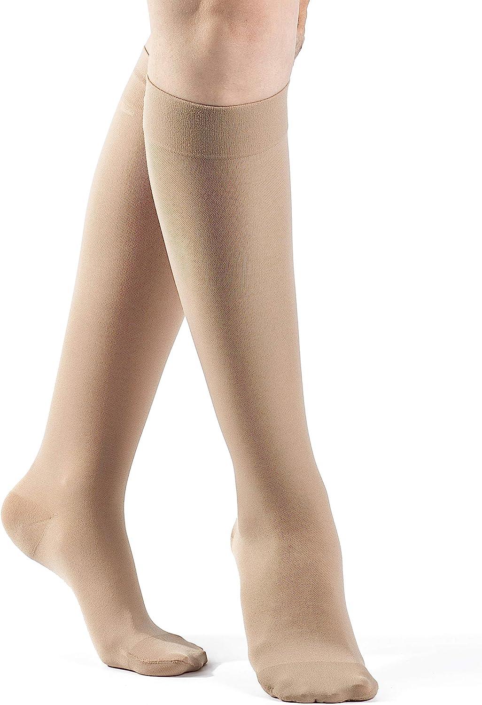 SIGVARIS Women/'s Essential Opaque 860 Closed Toe Calf-High Socks 30-40mmHg