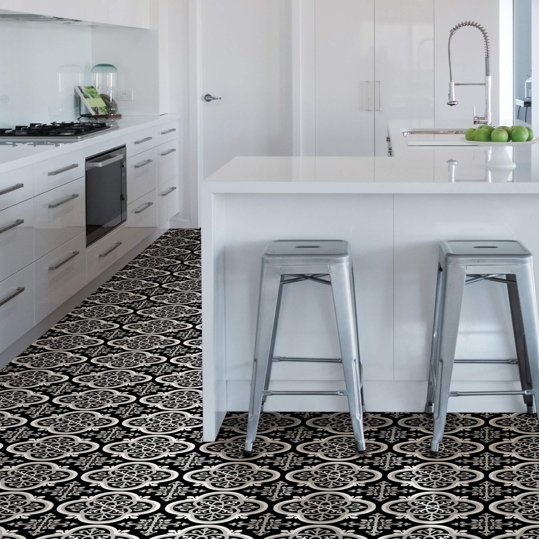 Multi-Color FloorPops FP2947 Antico Peel /& Stick Floor Tile Twо Расk