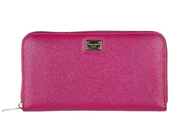 50c36bcbc5f5 Dolce   Gabbana portefeuille porte-monnaie femme deux plis zip around  dauphine fux