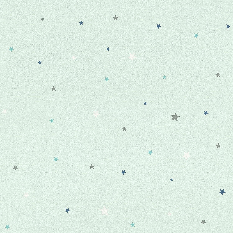 Bambino Xviii Stars Wallpaper Mint Green Rasch 245240 Amazon Com