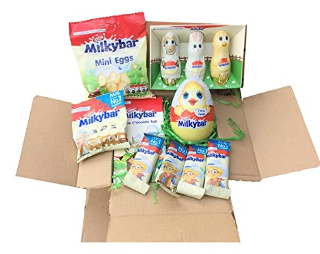 Milkybar chocolate medium easter box easter present easter eggs milkybar chocolate medium easter box easter present easter eggs bunny cow friends negle Image collections