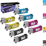 Speedy Inks - Compatible Xerox 6500 Set of 8 Toner Cartridges 106R01597 106R01596 106R01595 106R01594 for Phaser 6500, WorkCentre 6505 Printers: 2 Black, 2 Cyan, 2 Magenta, 2 Yellow