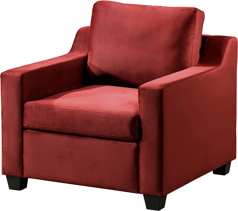 "Glory Furniture Ashley , Burgundy Chair, 32"" H X 32"" W X 32"" D"