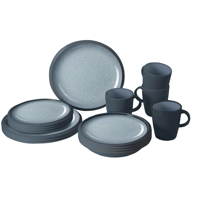 Granyte Plain 16 Teiliges Dinner Set (Einheitsgröße) (Grau)
