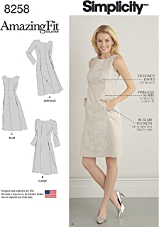 product image for Simplicity 8258 Women's Sheath Dress Sewing Pattern, 3 Styles, Sizes 10-18