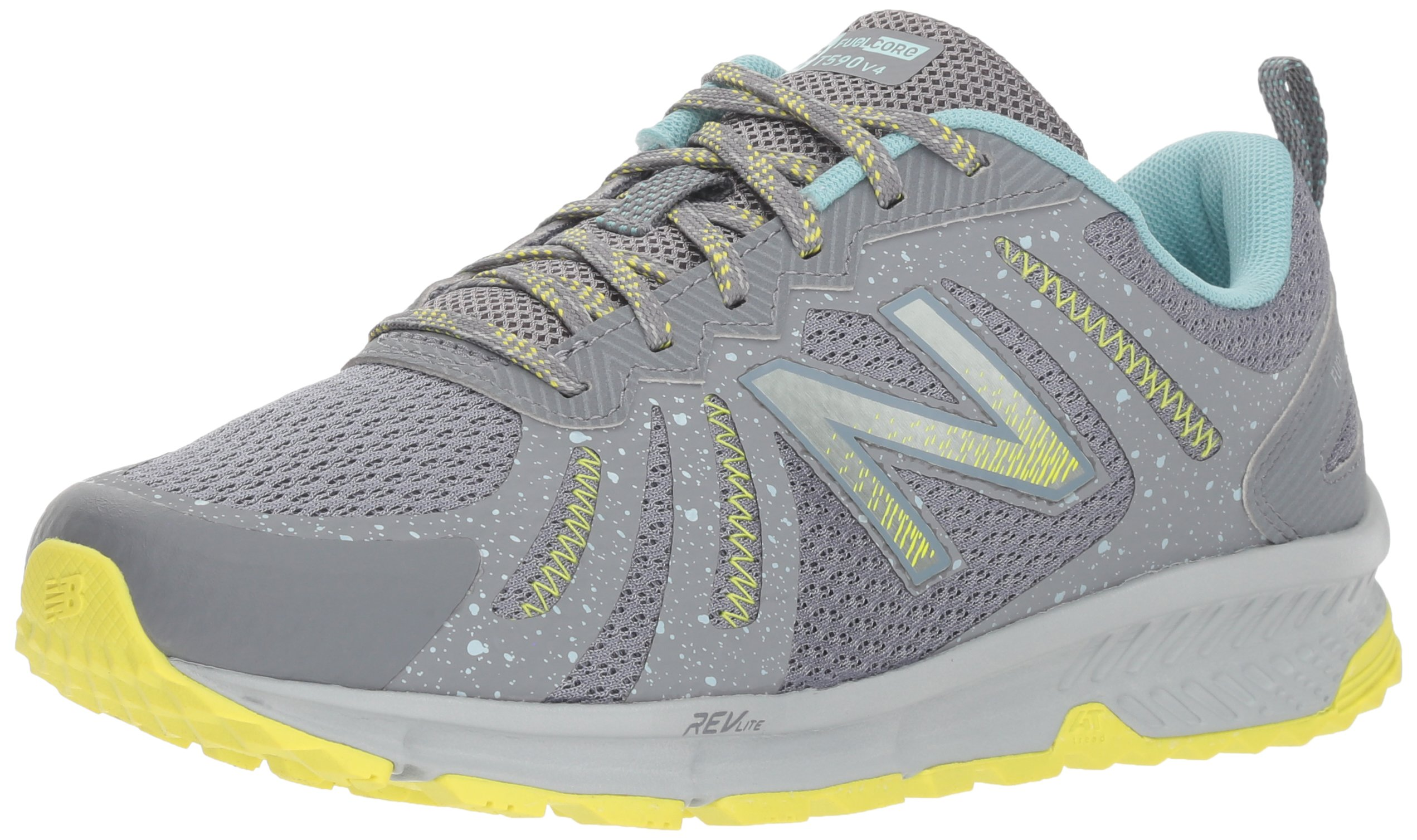 New Balance Women's 590v4 FuelCore Trail Running Shoe, Gunmetal, 5.5 D US by New Balance (Image #1)