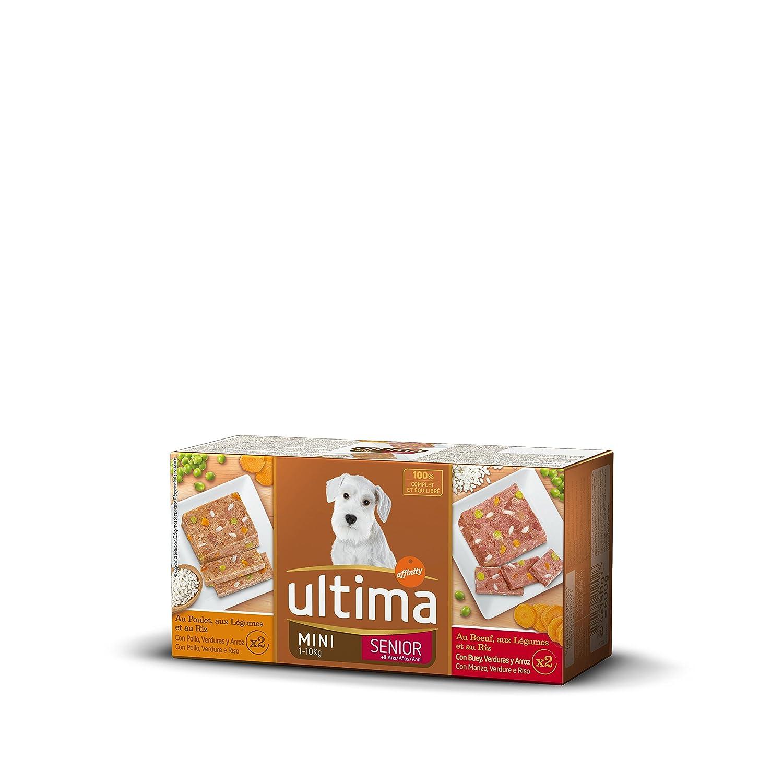 Ultima Comida Húmeda Sublime para Perros Mini Senior de 7 Años con Buey y Pollo: Amazon.es: Productos para mascotas