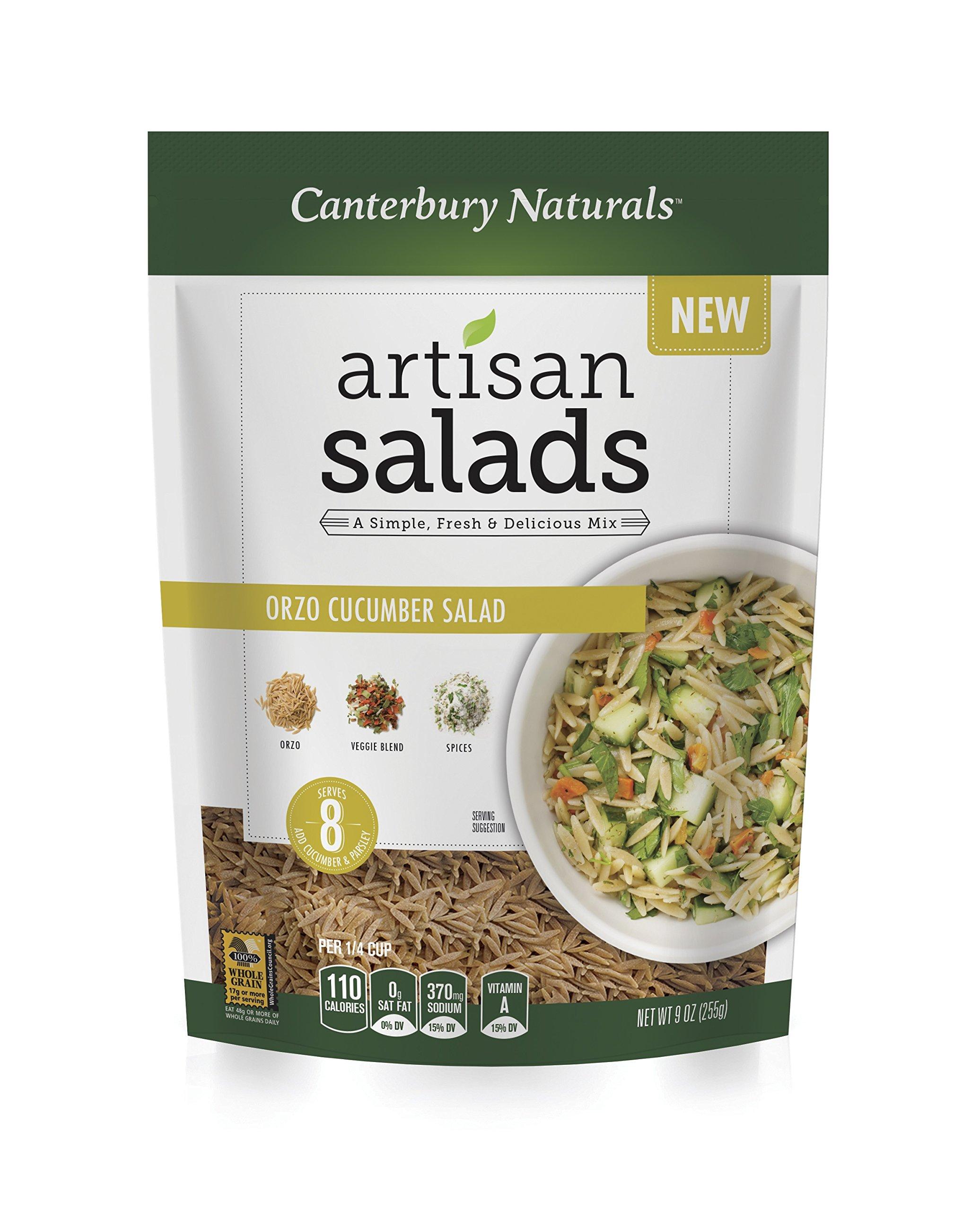 Canterbury Naturals Artisan Salad Pasta Sampler 6-Pack (3 Couscous / 3 Orzo)