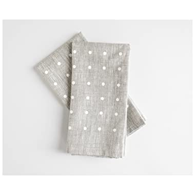 White dots napkins- Set of 2 - Linen Napkins