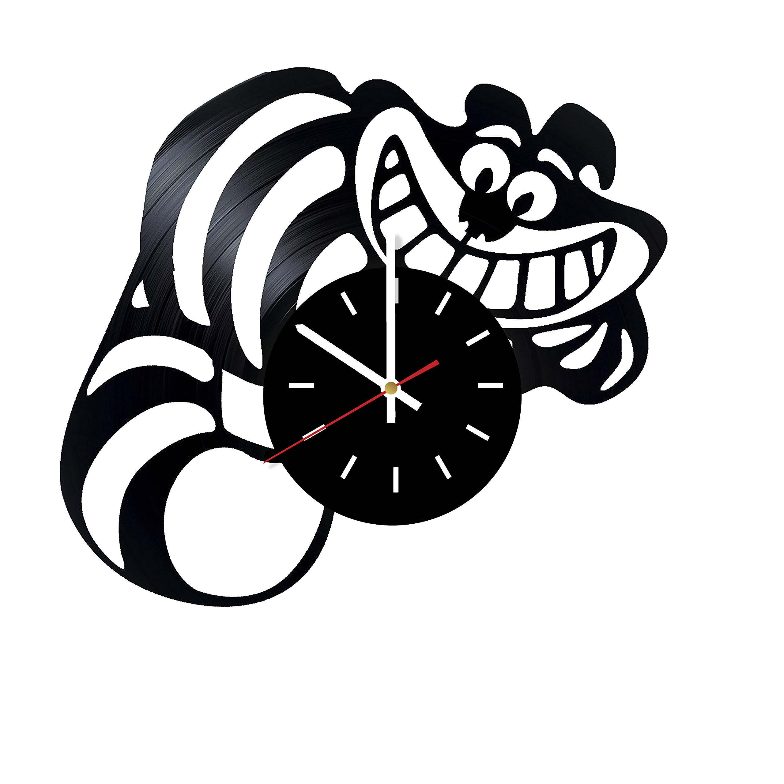 Everyday Arts The Cheshire Cat Alice in Wonderland Design Vinyl Record Wall Clock - Get Unique Bedroom or Garage Wall Decor - Gift Ideas for Friends, Brother - Darth Vader Unique Modern Art