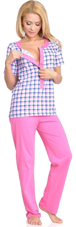 Be Mammy Mujer Lactancia Pijamas Dos Piezas Edith: Amazon.es: Ropa y accesorios